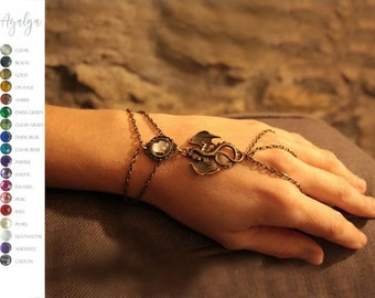 Dragon bracelet ring- statement jewelry