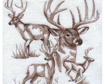 Custom Embroidered Buck /  Deer Sweatshirt S-3XL