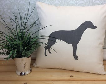 Whippet Pillow Cover, Whippet Art, Whippet Gift, Whippet Silhouette, Dog Breed Silhouette, Pet Silhouette, Dog Silhouette