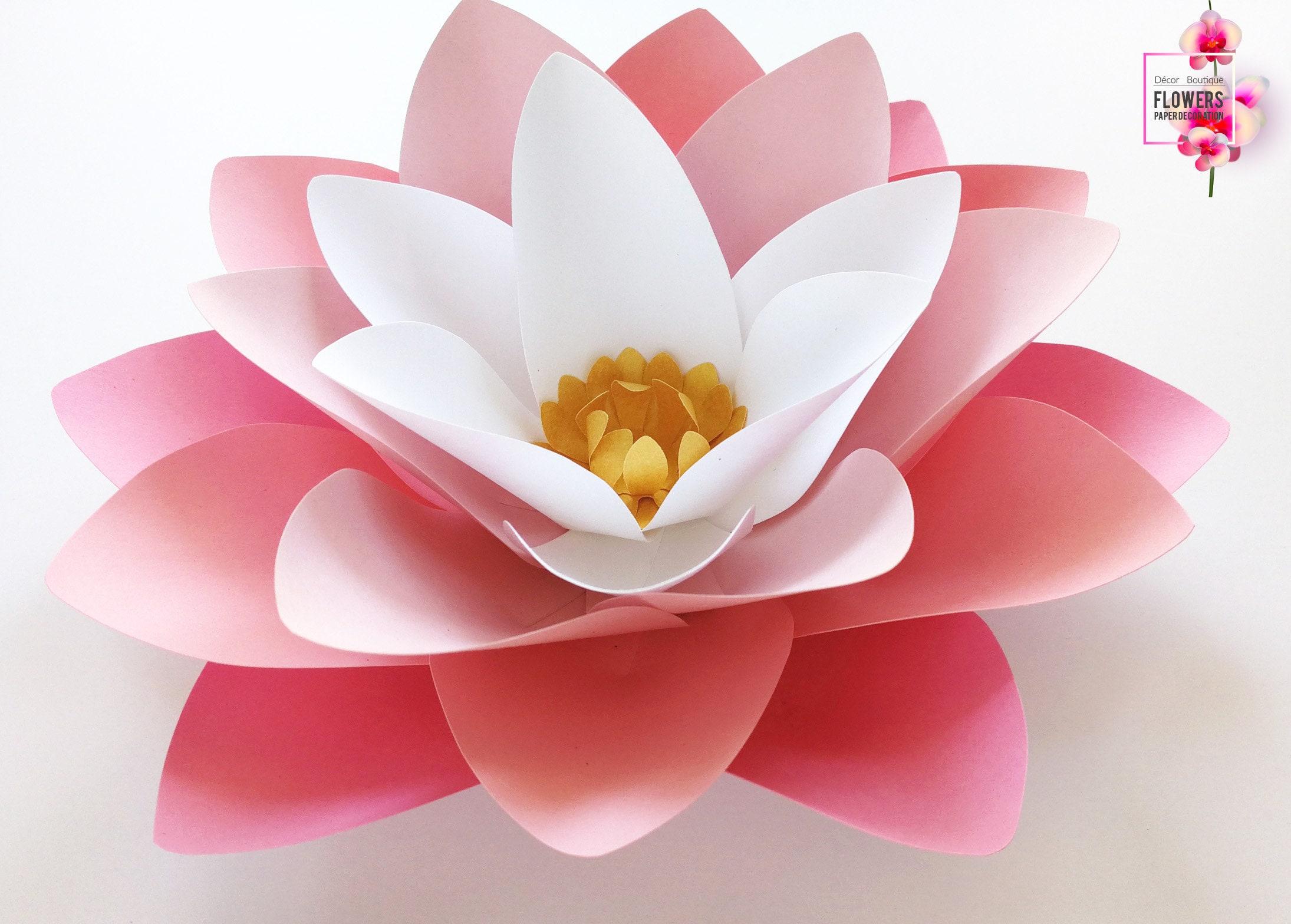 Single Paper Lotus Flower Paper Flowers Wall Nursery Wall