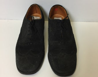 Vintage Retro 90s Suede Loake Brogues Shoes Size 6
