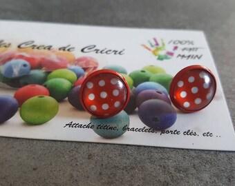 """Dots"" earrings ~ nail"