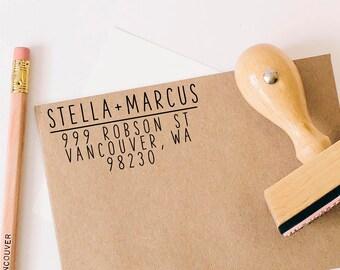 Return Address Stamp, Self-Inking Stamp, Personalized Address Stamp, Calligraphy Address Stamp, Address Label, Housewarming, Wedding Gift