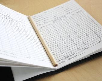 Fishing journal refill only // log book refill