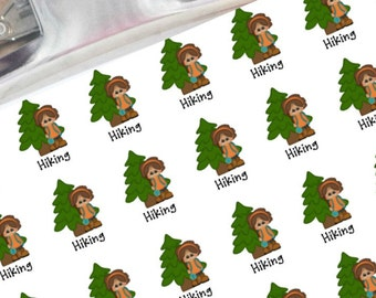 Hiking planner stickers (girl)