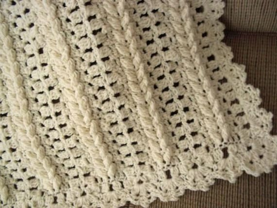 Pattern only Baby Braided Fisherman Crocheted Baby afghan