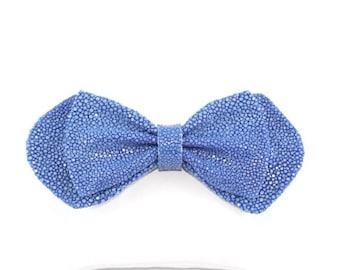 Noeud Papillon Galuchat Bleu