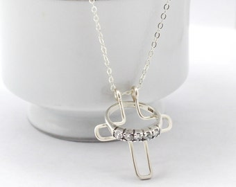 Cross Ring Holder Necklace, Wedding Ring Holder Necklace, Engagement Ring  Holder Necklace, Ring Safe And Secure Necklace, Silver Ring Keeper