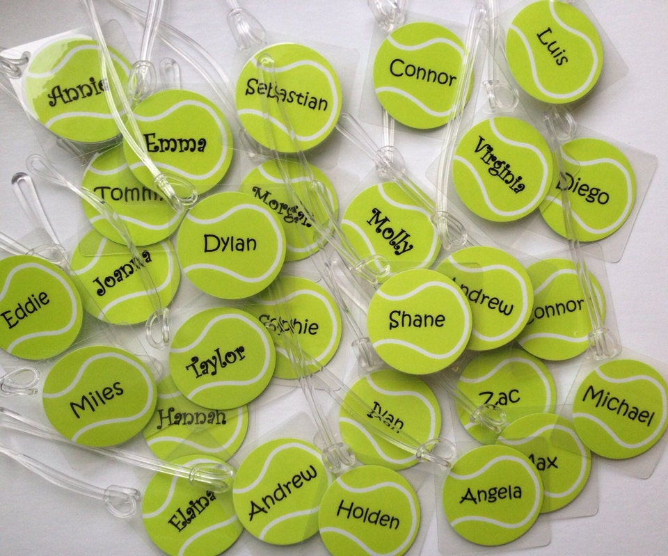 Tennis Bag Tags Quantities Of 8 Team Gifts