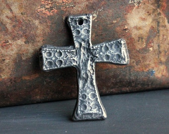 Cross Pendant, Handcrafted, Jewelry Making, Necklace Pendant, Handmade, Croses, DIY Jewelry, Pendant Jewelry, Pewter Pendant No. 276PD