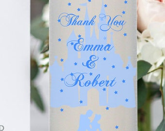 Cinderella Thank You Favor Wedding Candle Place Setting