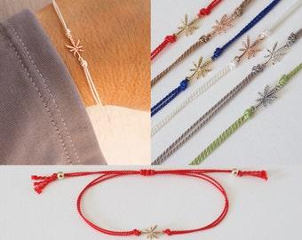 Winzige Marihuana Blatt Armband - einstellbare Marihuana Armband - Seide Topf Armband - Mini Blatt Armband-Rose Gold - Gold - Silber