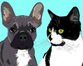 Custom Pet Art, Custom Pet Portrait, Custom Animal Art, Pet Art Commission, Custom Pet Portrait Illustration, Portrait Printable