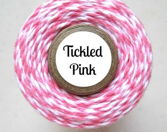 Pink & White Bakers Twine by Trendy Twine - Tickled Pink