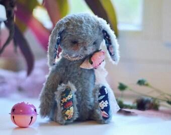 Author toy teddy bunny rabbit artist interior design retro vintage mohair sawdust cute little