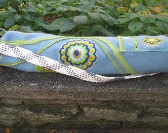 """Wool """"Hippie"""" Flower Yoga Bag Tote"""