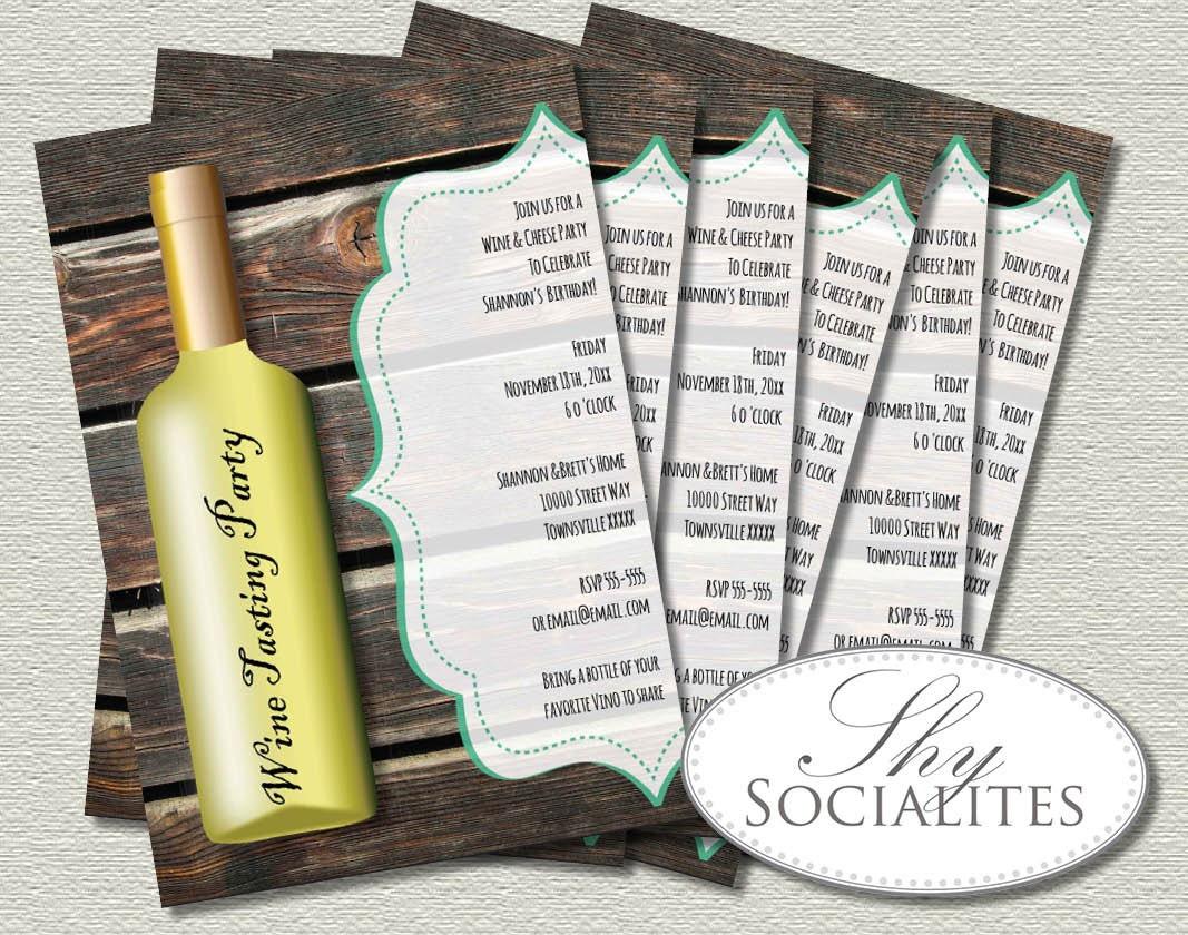 White Wine Invitations Wine Bottle Vino Wine Tasting