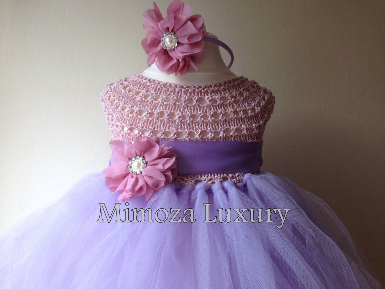 Rapunzel princess tutu dress crochet tutu dress bridesmaid