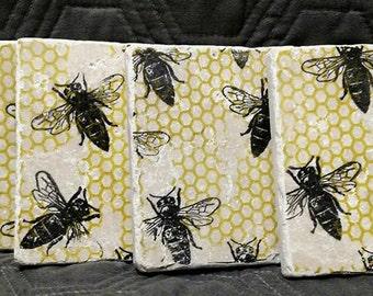 Bumble Bee Coasters