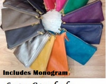 Monogram Crossbody Wristlet Wallet 5 Compartments Fashion Bag