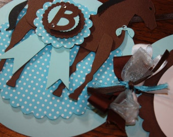 Boy or Girl Pony Name Banner / Birthday / Baby shower / CHOOSE COLORS