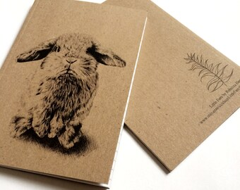 Muffin the Bunny - A6 Lined pocket notebook - Gift, Stocking filler