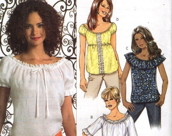 Butterick 4685 Easy Pullover Tops ©2005 English & French Francais Instructions