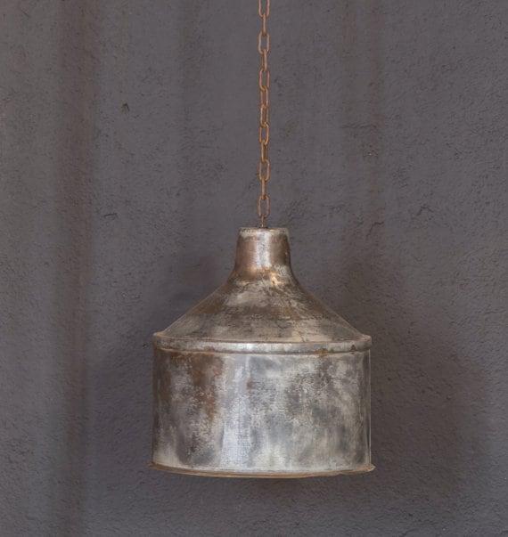 Items Similar To Galvanized Light Rustic Industrial: Galvanized Lighting FixturePendant LightingRustic Industrial