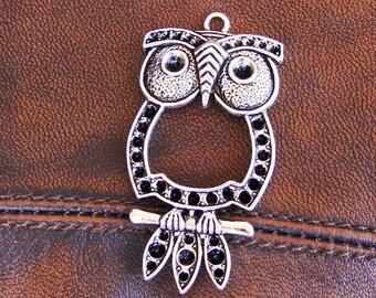 5 pendants OWL silver 58mm x 29mm in size