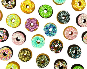 1 Box of Marzipan Donuts!  Delicious, Gorgeous Sprinkle Doughnuts in A Variety of Designs!