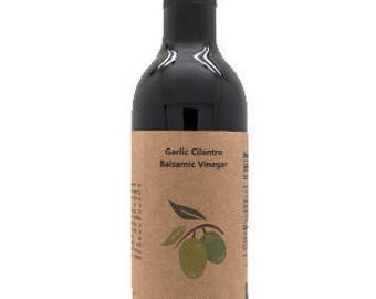 Garlic Cilantro Dark Balsamic Vinegar, 12.6oz.