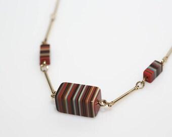 Triple Stripe Necklace