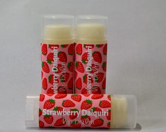 Strawberry Daiquiri -  Sweetened Lip Balm - Flavored Lip Butter - Natural - Handmade