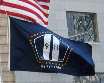 9/11 Official We Remember Commemorative Flag