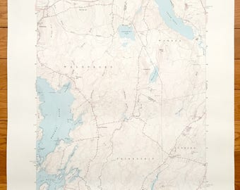 Antique Waldoboro, Maine 1965 US Geological Survey Topographic Map – Warren, Friendship, Cushing, Medomak River, Knox, Lincoln County