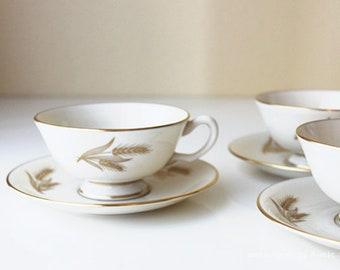 Lenox Harvest Teacups Set of 3
