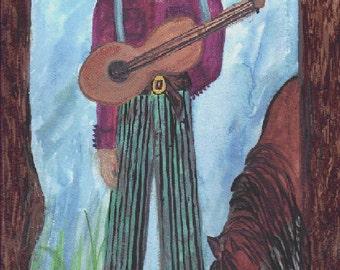 Barn Music    A Watercolor Art Print  Painted by Joyce Lee