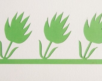 Stencil for a frieze of tulips - model 3