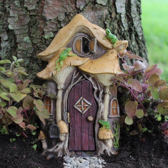 Leap Frog Fairy Door for the Fairy Garden