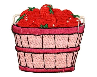 ID 1300 Bushel of Tomatoes Patch Orchard Farm Veggie Embroidered IronOn Applique