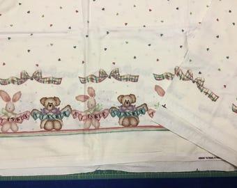 Daisy Kingdom Tisket A Tasket Double border fabric. BTY