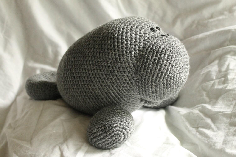Manfred the Manatee Amigurumi Plush Crochet PATTERN ONLY