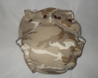 Camo fitted diaper