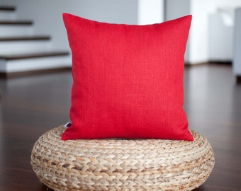 pillows cushion rzmp throw outdoor decorative solid red etsy summer il decor market cover pillow