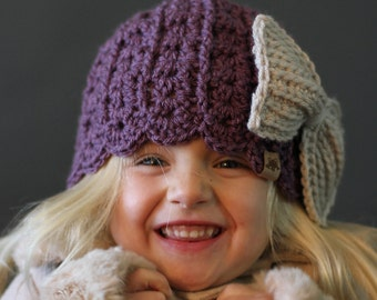 Crochet PATTERN Logan Scalloped Beanie Crochet Hat Pattern Includes Newborn to Ladies Sizes
