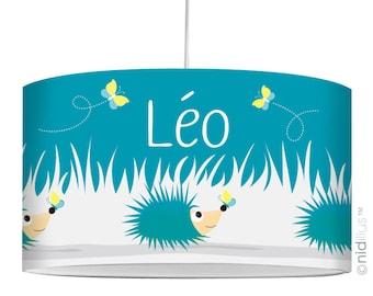 """Hedgehogs"" blue pendant lamp"