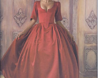 Simplicity 8411 Misses 18th Century Outlander Costume Gown Bodice Panniers UNCUT Sewing Pattern