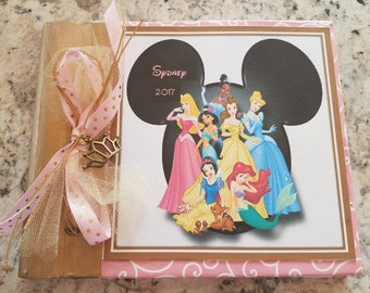Disney Princess Autograph Book, Disney Autograph Book, Birthday Guest Book, Memory Book 6 x 6 or 8 x 8
