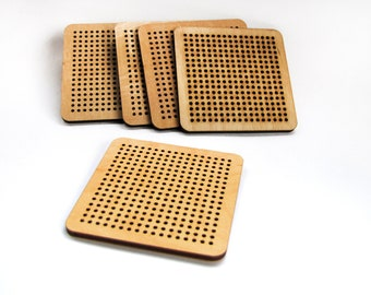 Cross stitch wooden blank embroidery blanks perforated plywood laser cut wood stitches for embroidery stitching wooden blanks embroidery