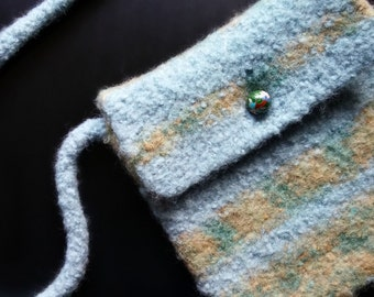 Desert Sky Felted Wool Pocket Purse w/ Rendezvous Bead